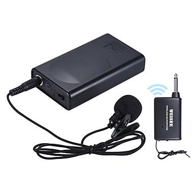 preiswerte Mikrofone-Tragbarer lavalier Reverskragen Clip-on drahtloser Mikrofon Sprachverstärker für Vortragskonferenz Sprachförderung