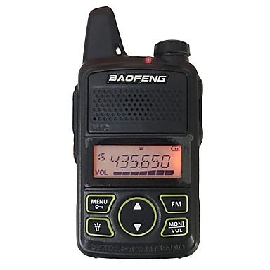 voordelige Walkie-talkies-Baofeng intercom t1 mini handheld walkie talkies 400-470 mhz pc software programmeerbare energiebesparende functie 20 geheugenkanalen 5 km-10 km met headsets draagbare zwart