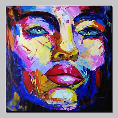 povoljno Ulja na platnu-Hang oslikana uljanim bojama Ručno oslikana - Apstraktni portreti Sažetak Moderna Bez unutrašnje Frame