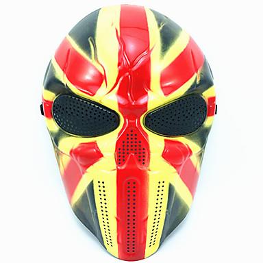 levne Masky-Halloweenské masky Vtípky Halloween Props Masky maškarní Maska lebky Plastický Novinka Lebka Jídlo a nápoje Dospělé Unisex Chlapecké Dívčí