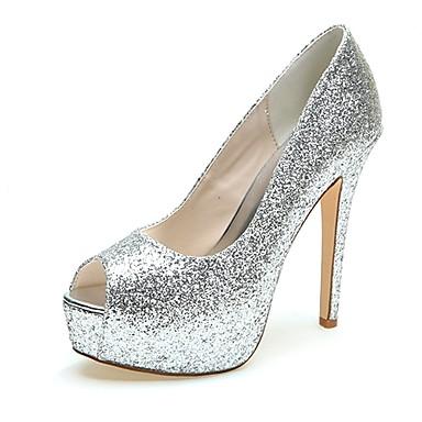 mujer zapatos brillantina verano / otoño talón descubierto zapatos