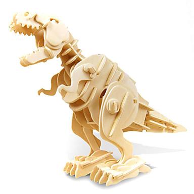 levne 3D puzzle-3D puzzle Modele Tyrannosaurus Dinosaurus se zvukovým senzorem Elektrický Dřevěný Dětské Chlapecké Hračky Dárek