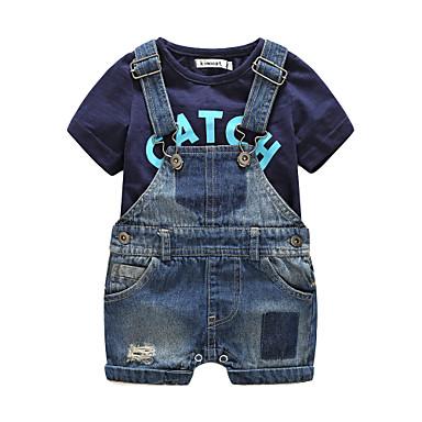 povoljno Odjeća za dječake-Beba Dječaci Other Kratkih rukava Pamuk Komplet odjeće Crn