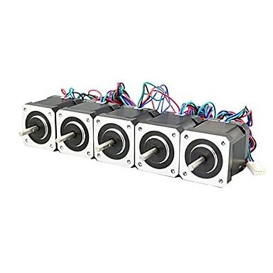 preiswerte 3D-Drucker Teile & Zubehör-3d Drucker nema 17 Schrittmotor Linearschraube 2 Phase 3D Drucker Graviermaschine (Packung von 5 Stück)
