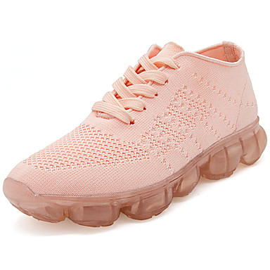 Women's Shoes Tulle Fall Winter Comfort Athletic Shoes Basketball Shoes Athletic Outdoor Black Gray Pink