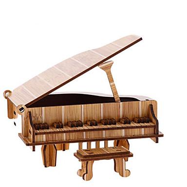 levne 3D puzzle-3D puzzle Puzzle Dřevěný model Piano Housle Hudební nástroje Simulace Dřevěný Přírodní dřevo Dětské Unisex Hračky Dárek