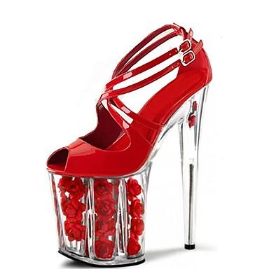 Zapatos rojos de verano con hebilla formales para mujer DSggz