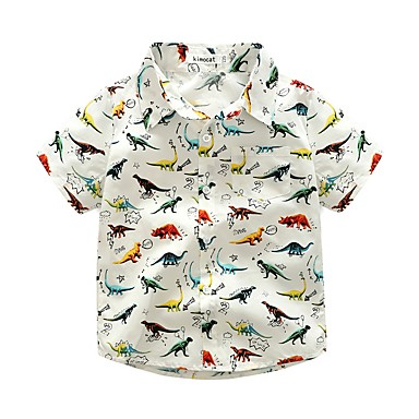 povoljno Odjeća za dječake-Dijete koje je tek prohodalo Dječaci Životinjski uzorak Životinja Kratkih rukava Kratka Pamuk Majica Obala