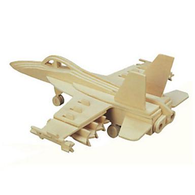 levne 3D puzzle-3D puzzle Puzzle Dřevěný model Tank Letadlo Fighter Dřevěný Přírodní dřevo Dětské Unisex Hračky Dárek