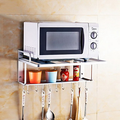 Wall Mounted E Aluminum Kitchen Racks Microwave Oven Shelves 6089214 2018 35 01
