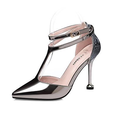 Mujer Zapatos Lentejuelas Otoño / Primavera verano Confort Tacones Tacón Stiletto Dedo Puntiagudo Lentejuela / Hebilla Plata E3rhYtB