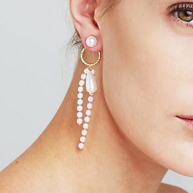 povoljno Modne naušnice-Žene Naušnica Long Poslastica Statement dame Personalized Luksuz Moda Naušnice Jewelry Zlato / Pink Za Božić Božićni pokloni Vjenčanje godišnjica Poslovanje Dar