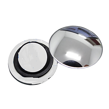 preiswerte -ziqiao 1 PC Auto-Rückspiegel kleinen runden Spiegel Weitwinkel einstellbare optische konvexe Oberfläche mit rotierenden Basis