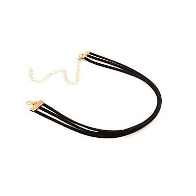 preiswerte Halsbänder-Damen Halsketten Simple Style Modisch Plüsch Schwarz Modische Halsketten Schmuck Für Alltag Normal Strasse Ausgehen