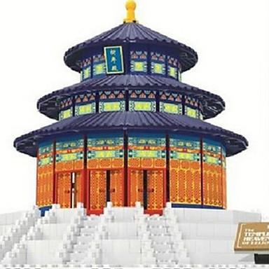 levne 3D puzzle-WAN GE Stavební bloky Modele Slavné stavby Čínské stavby chrám Boží Fun & Whimsical Hračky Dárek