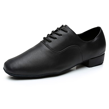 cheap Men's Dance Shoes-Men's Latin Shoes Sneaker Customized Heel Pigskin Black / Indoor / EU43