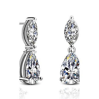 levne Dámské šperky-Dámské Peckové náušnice Visací náušnice imitace Emerald imitace DiamondHypoalergenní Cute Style luxusní šperky Klasický Módní