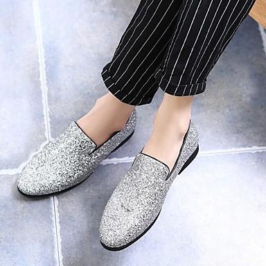 preiswerte Schuhe und Taschen-Herrn Mokkasin Glanz Sommer / Herbst Britisch Loafers & Slip-Ons Schwarz / Gold / Silber / Glitter / Hochzeit / Party & Festivität / Hochzeit / Party & Festivität