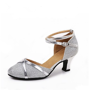 Women s Modern Shoes Glitter Heel Splicing Customized Heel Customizable  Dance Shoes Silver   Silver   Black   Black   Gold   Indoor 6129435 2019 –   19.99 273668683a