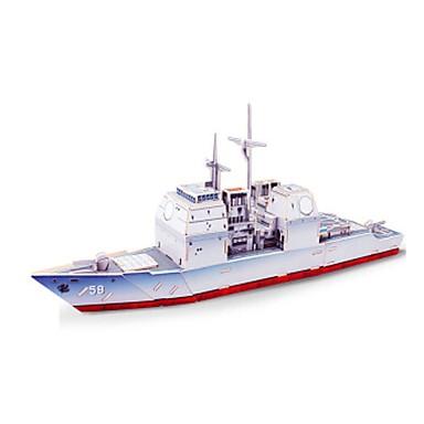 levne 3D puzzle-3D puzzle Puzzle Modele Válečná loď Loď Udělej si sám Dřevěný Klasické Dětské Unisex Hračky Dárek