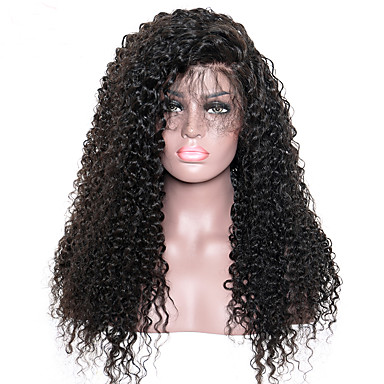 Style; Inventive Short Kinky Curly Wig Remy Brazilian Lace Front Human Hair Wigs For Women Natural Black Pre Plucked With Baby Hair Riay Hair Fashionable In