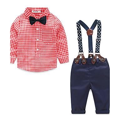 povoljno Kompletići za dječake-Beba Dječaci Na točkice Other Pamuk Komplet odjeće Plava