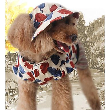 Cachorro Macacão Inverno Roupas para Cães Café Natal Ocasiões Especiais Algodão Folha Casual S M L XL