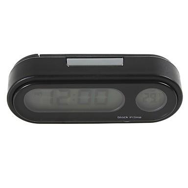 billige Interiørtilbehør til bilen-ziqiao mote bil klokke auto kjøretøy mini bakgrunnsbelysning vute termometer klokke tid bil elektronisk klokke