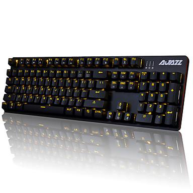 preiswerte AJAZZ®-AJAZZ AK52 USB verkabelt mechanische Tastatur Gaming-Tastatur Spielen leuchtend Einfarbige Hintergrundbeleuchtung 104 pcs Schlüssel