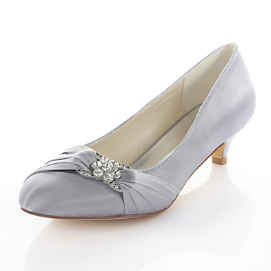 ae13f2d5440 Women s Elastic Fabric Spring   Fall Basic Pump Wedding Shoes Kitten Heel  Round Toe Crystal Silver   Red   Blue   Party   Evening 6118074 2019 –   31.49
