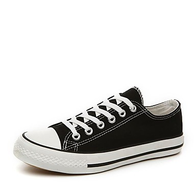 cheap Men's Sneakers-Men's Light Soles Spring / Fall Casual Outdoor Office & Career Sneakers Canvas White / Black / Red / EU40