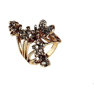 billige Motering-Dame Gull Sølv Sølvplett Gullbelagt Legering Geometrisk Form Personalisert Blomster Klassisk Bryllup Fest Smykker Blomst Blomst Sommerfugl