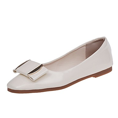 Mujer Zapatos Cuero de Napa Primavera verano Confort Zapatillas de deporte Tacón Plano Punta cerrada Negro / Rosa / Almendra sq10ol
