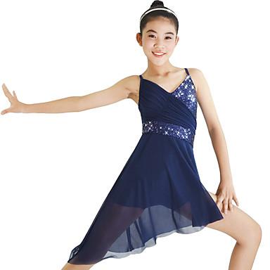 Ballet Vestidos Elástico Rendimiento Volantes Mujer Licra UpzSMV