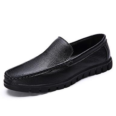 homme chaussures cuir et automne confort mocassins et chaussons d6148 marche noir brun. Black Bedroom Furniture Sets. Home Design Ideas
