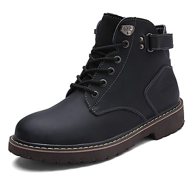 Men's Shoes PU Leather Winter Fall Light Soles Combat Boots Motorcycle Boots Fashion Boots Riding Boots Comfort Boots Booties/Ankle Boots