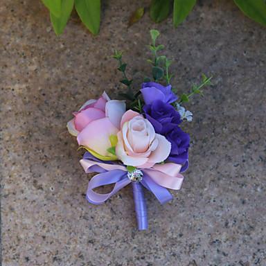 Bouquets de Noiva Alfinetes de Lapela Casamento Organza / Cetim 3.94 polegada