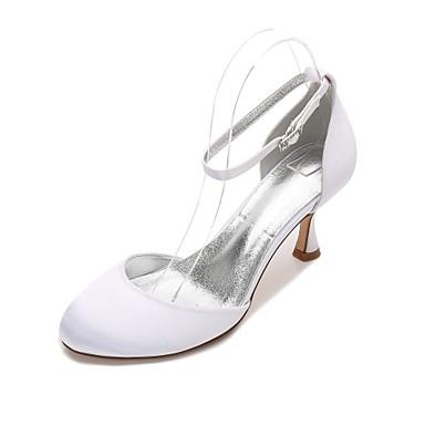 Mujer Zapatos Satén Primavera / Verano Tira en T / Innovador / D'Orsay y Dos Piezas Zapatos de boda Tacón Kitten / Tacón Cono / Tacón Bajo extrêmement Rabais Exclusif puRPeS