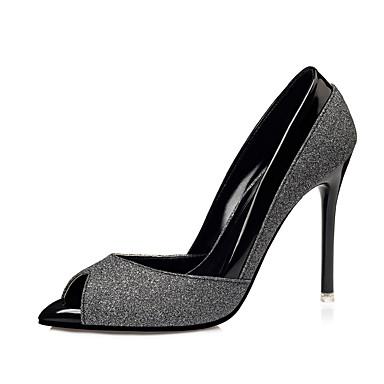 Mujer Zapatos Cuero Patentado Otoño Pump Básico Tacones Tacón Stiletto Dorado / Negro / Plata / Fiesta y Noche / Fiesta y Noche Pas Cher De La France Pas Cher Authentique YZvQ1D8c1L