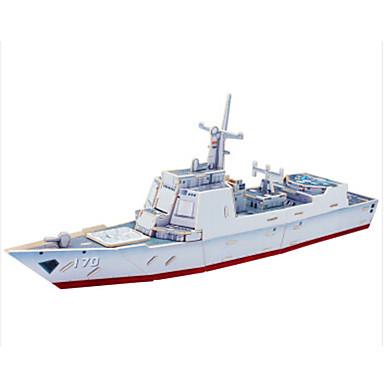 levne 3D puzzle-3D puzzle Puzzle Modele Válečná loď Loď ničitel Udělej si sám Dřevěný Klasické Dětské Unisex Hračky Dárek