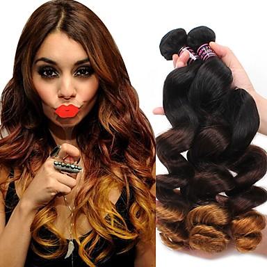 povoljno Ekstenzije za kosu-1 paket Brazilska kosa Valovita kosa Virgin kosa Remy kosa Others Ombre 12-24 inch Isprepliće ljudske kose Klasični Proširenja ljudske kose / 10A
