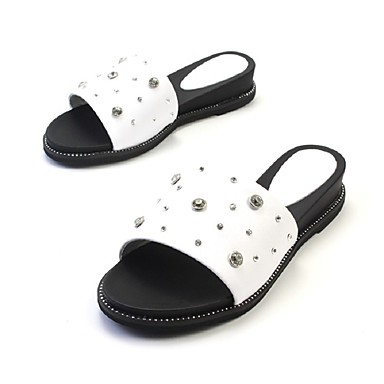 6e03572a3ad67 Women s Shoes Nappa Leather Leather Spring Summer Light Soles Flower Girl  Shoes Mary Jane Slingback Comfort Slippers   Flip-Flops Walking 6088692  2019 – ...