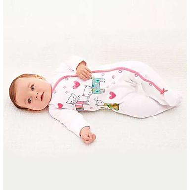 povoljno Odjeća za bebe-Dijete Djevojčice Crtići Životinja Print Dugih rukava Kombinezon Obala