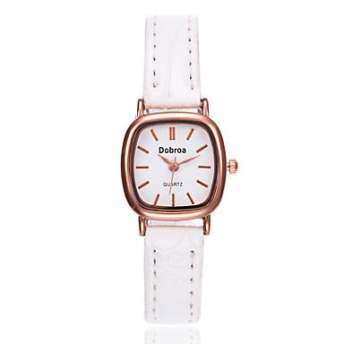 ieftine Ceasuri pătate și dreptunghiulare-Pentru femei Ceas de Mână Piața de ceas Quartz femei Piele Negru / Alb / Maro Analog - Alb Negru Maro