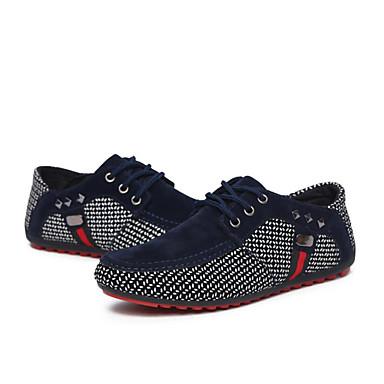 cheap Men's Sneakers-Men's Comfort Shoes PU Spring / Fall Sneakers Walking Shoes Black / Red / Blue / Rivet / Outdoor / Light Soles / EU40