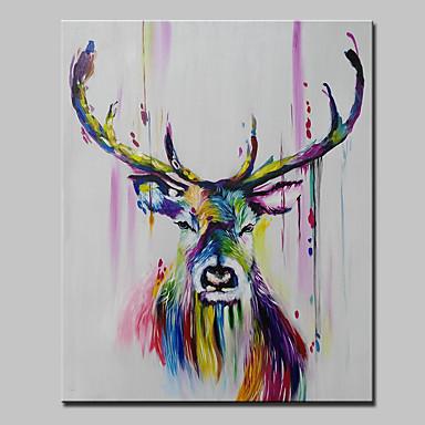 povoljno Ukrašavanje zidova-ulje na platnu rukom oslikane apstraktne životinje pop art moderno rastegnuto platno spremno za objesiti
