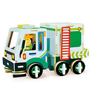 levne 3D puzzle-Autíčka 3D puzzle Puzzle Bagr Dřevěný Přírodní dřevo Stavební stroj Dětské Unisex Dárek