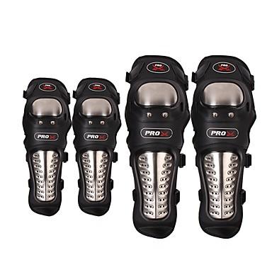 billige Motorsykkel & ATV tilbehør-pro-biker utendørs racing rustfritt stål motorsykkel beskyttende kneepute albue pad motocross beskytte vakter lettvekt