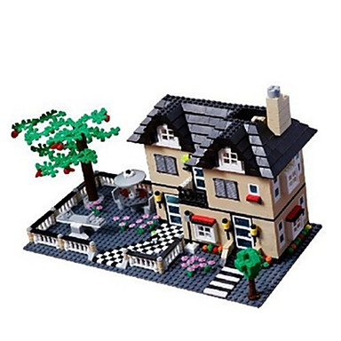 levne 3D puzzle-WANTOY Stavební bloky Modele Dům Klasické Chlapecké Dívčí Hračky Dárek