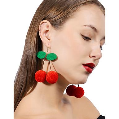 povoljno Modne naušnice-Žene Višnja Personalized Moda Naušnice Jewelry Crvena Za Dnevno Kauzalni Ulica Izlasci